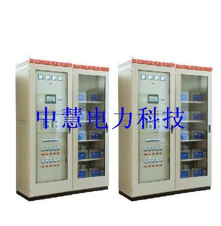 包括双充电机,双电池组,母线分段的接线方案.